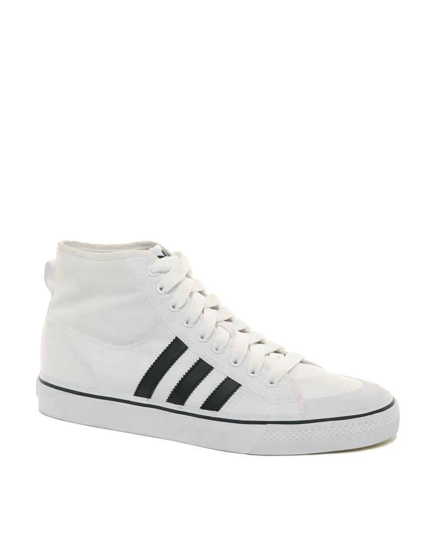 Nizza Blanco De Adidas Foto Hi Zapatillas Top Originals Lona TkXZwOluPi