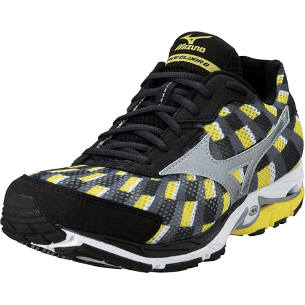 Foto Zapatillas Mizuno - Wave Elixir 8 - UK 10.5 Yellow/Silver/Grey