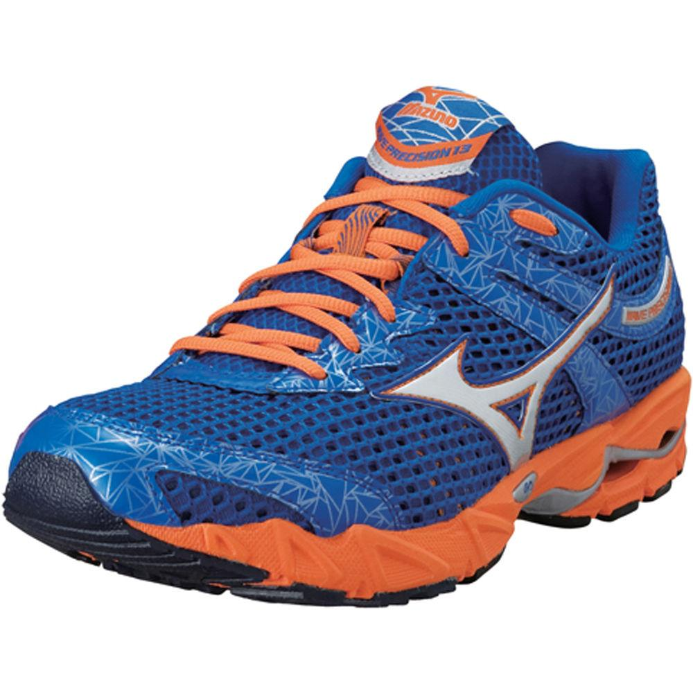 Foto Zapatillas Mizuno - Wave Precision 13 - UK 10.5 Blue/Silver/Orange