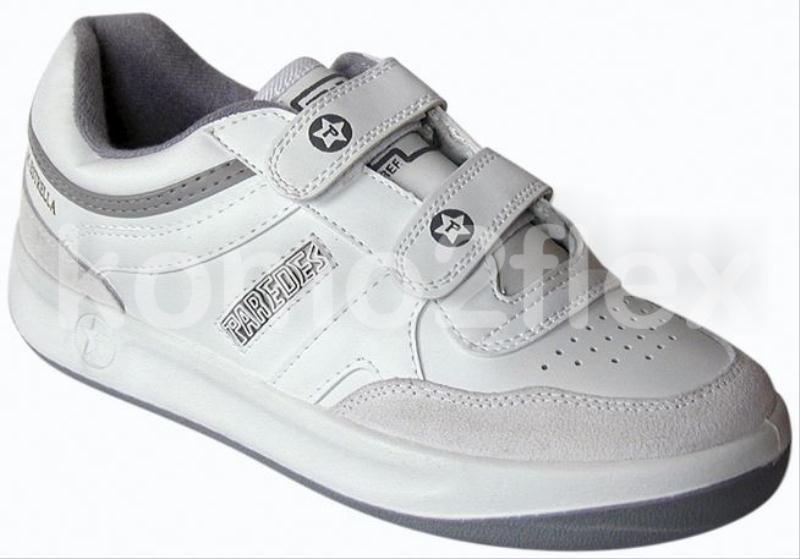 foto zapatillas paredes velcro blanco talla 39