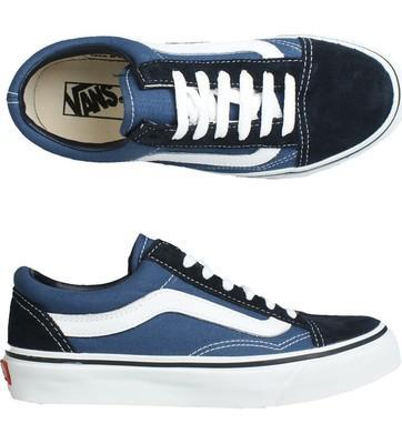 Vans Old Skool Azules Y Negras