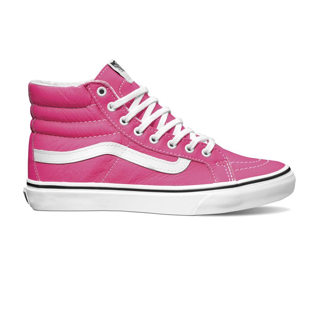 vans altas mujer rosa
